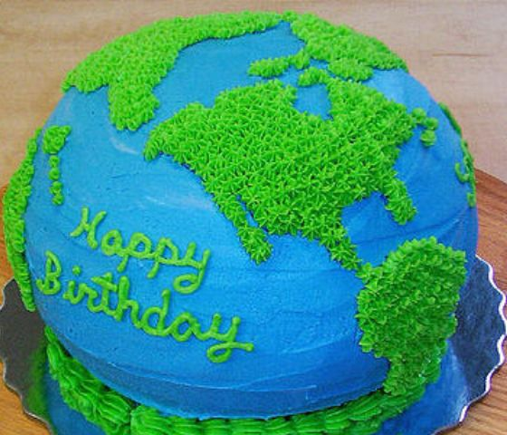 Picture of an Earth cake